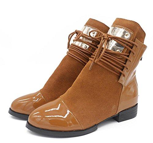 Women Snow Boots Sexy Flat Non-slip Black Brown Fall Winter Outdoor , Brown , EUR 41/ UK 7.5-8