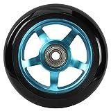 213 scooterwheel kit 2 Roues de Trottinette moyeu alu Mixte Adulte, Bleu, 100mm