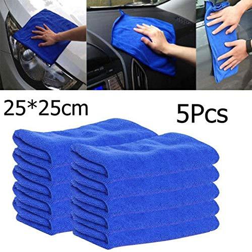 Swteeys Mikrofaser quadratisches Wasser Absorptions Nicht fallendes Haar Auto Reinigungs Tuch Reinigungszubehör 25 x 25cm, 5 Pcs