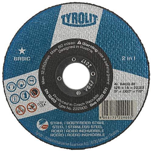 Tyrolit 42 Trennscheibe gekröpft, Gewebeverbindung, Abmessung, 230 x 3 x 22,23 cm, 25 Stück, 222044