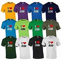 S.B.J - Sportland Schweres Qualitäts T-Shirt I Love Judo