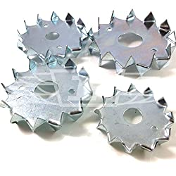 Pack of 25 x M12 x 50mm Double Sided BZP Dog Tooth WASHERS