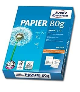 avery ramette de 500 feuilles papier a4 80g pour photocopieurs et imprimantes laser et jet d. Black Bedroom Furniture Sets. Home Design Ideas
