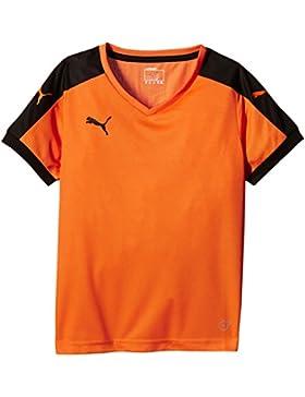 Puma T-Shirt Pitch Short Sleeve, Camiseta de Fútbol para Niños, Naranja (Team Naranja/Black), 11-12 Años (Talla...