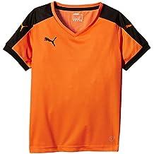 Puma T-Shirt Pitch Short Sleeve, Camiseta de Fútbol para Niños, Naranja (