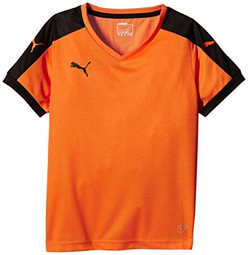 Puma Unisex-Kinder T-Shirt Pitch, Orange (Team Orange/Black), Gr. 7-8 Jahre (Herstellergröße: 128)