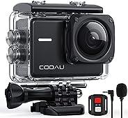 COOAU Action Cam 4K Nativo 60fps 20MP con WiFi Zoom 8X Nuova Stabilizzatore Elettronica, Subacquea Impermeabil