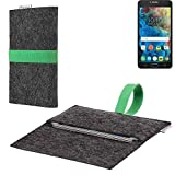 flat.design vegane Handy Hülle Aveiro für Alcatel One Touch Pop 4S passgenaue Filz Tasche Case Sleeve Made in Germany