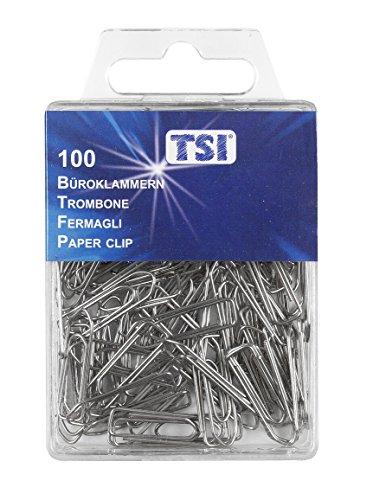 Clips de papel de la ETI, de 26 mm, paquete de 100