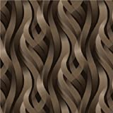 Muriva Wallpaper Ribbons 3D Effect Chocolat (J42808)