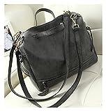 Keshi Cool Damen Handtaschen, Hobo-Bags, Schultertaschen, Beutel, Beuteltaschen, Trend-Bags, Velours, Veloursleder, Wildleder, Tasche Grau