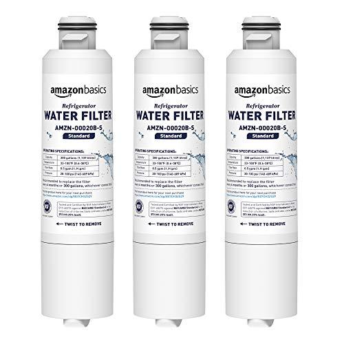 AmazonBasics - Filtro de agua de repuesto para frigorífico Samsung DA29-00020B - Filtración Estándar