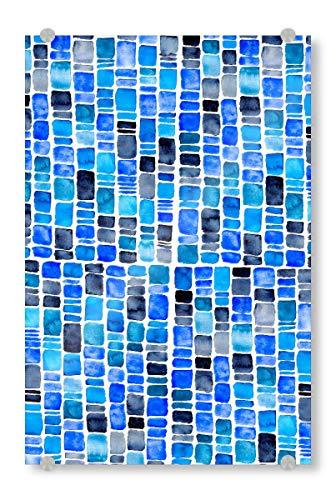 artboxONE Acrylglasbild 30x20 cm Natur Blue Mosaik Bild hinter Acrylglas - Bild Mosaik Marokko Orient