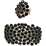 WUJO Rose Gold and Crystal Charm Bracelet & Ring for Women & Girls
