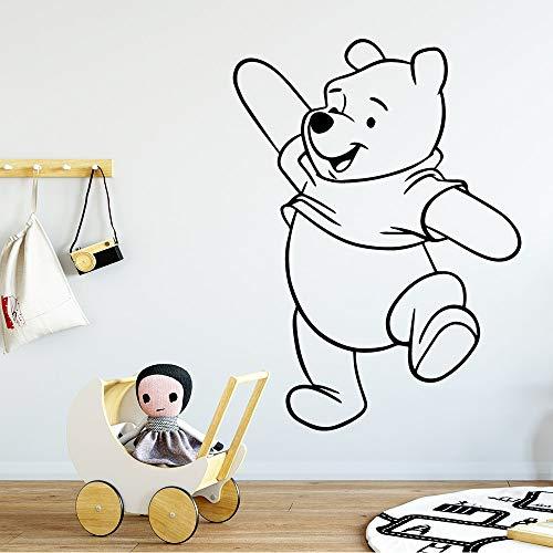 yaonuli Bär Wandaufkleber Kinderzimmer Wandbild Bär Bär Schlafzimmer Dekoration Heimtextilien Bär Wandaufkleber Art50x68cm