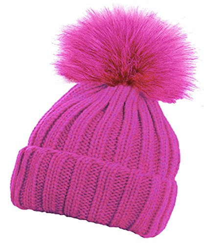 0085ee81c28 Libro PDF Gratis TOSKATOK® Girls Faux Fur Pom Pom Beanie Hat ...