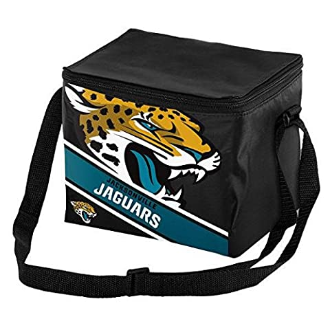 Jacksonville Jaguars Big Logo Stripe 12 Pack Cooler