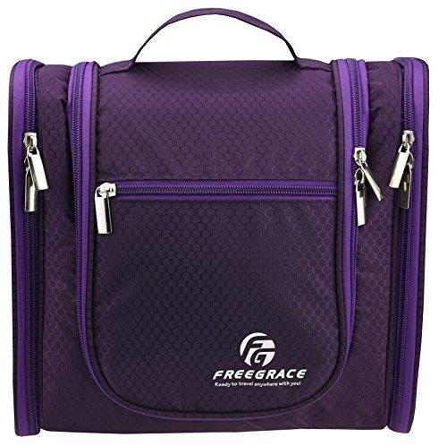 Premium Toiletry Bag von Freegrace - große Reise Essentials Organizer - haltbarer hängenden Haken - für Männer und Frauen - perfekt für Zubehör, Kosmetik, persönliche Gegenstände, Shampoo, Body Wash (Tag Der Toten Make Up Kids)