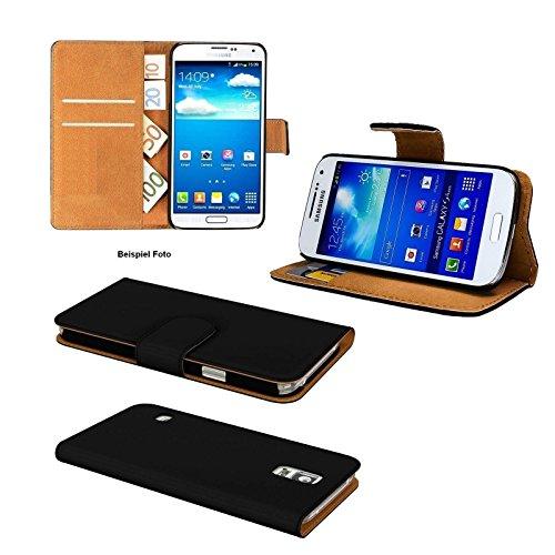 GiXa Technology Qualität Apple iPhone 6 plus / 6S plus Schutztasche / Flipcase mit 2x Karten, 1x Geldscheine Fächer und Stand-Funktion, Silikon Halterung Case (für iPhone 6 plus / 6S plus, Schwarz) Schwarz