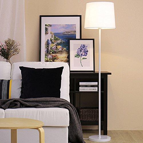 Lichtmast Licht (Nachttischlampe, Eisen Lichtmast runde Lampenfassung Rostschutz Coffee Shop dekorative Lichter Tuch Lampenschirm weiches Licht Höhe 150CM (Color : B))