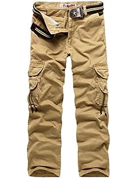 [Patrocinado]AYG Hombre Pantalon Cargo Pants Camuflaje Pantalones Casuales Work Trousers 29-40