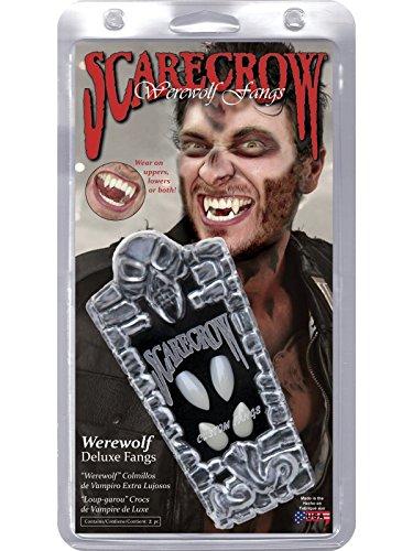 Smiffys Scarecrow Custom 4Pc Warewolf Fangs (Deluxe Scarecrow Kostüm)