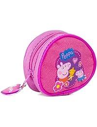 Peppa Pig redondo bolso niñas Rosa Monedero bolso de mano