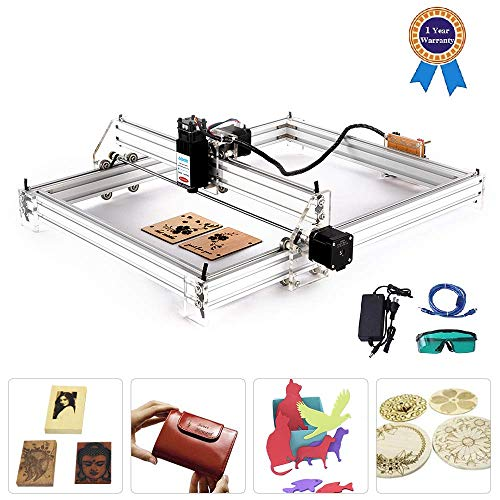 TOPQSC Carving Machine DIY Kit, Desktop 12V USB Lasergravierer Carver, Gravurfläche 400X500 mm, einstellbare Laserdrucker Carving & Schneiden mit Schutzbrille (2500MW)