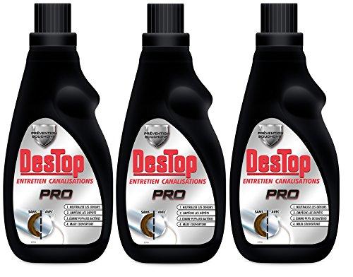 Destop Pro Entretien Canalisation 700 ml Lot de 3