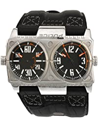 Police Men's Dominator Watch with Black Dial Analogue Display and Black Leather Strap P12899XS-02