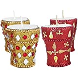 LOF Diwali Long Designer T-Light Set Of 4pcs Best Diwali Home Office Decoration Gifts And Decorative Item
