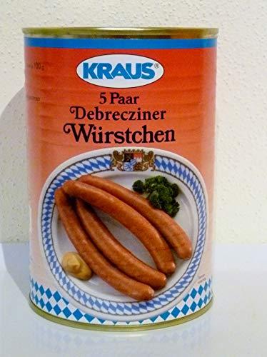 5 Paar Debrecziner Würstchen vom Metzger Konserven 500 Gramm