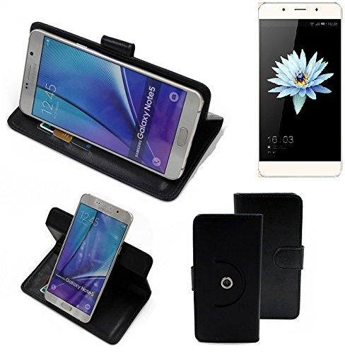 K-S-Trade® Hülle Schutzhülle Case Für -Hisense C1- Handyhülle Flipcase Smartphone Cover Handy Schutz Tasche Bookstyle Walletcase Schwarz (1x)