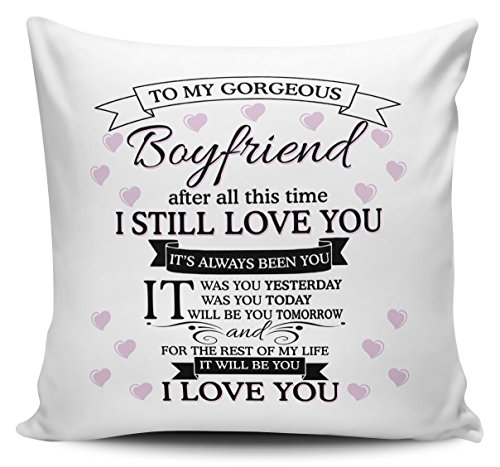 To My Gorgeous Boyfriend I Love You Cushion Cover, used for sale  Delivered anywhere in UK