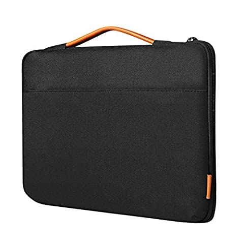 Inateck Shockproof Laptop Sleeve Case Briefcase Spill Resistant for 14 Inch Laptops, Notebooks, Ultrabooks, Netbooks, with Extra Storage