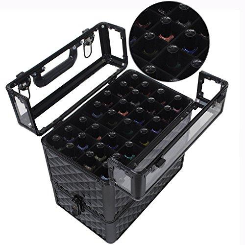 Generic Make U de Stockage de Maquillage Vanity CA Vernis à Ongles Vernis à Ongles P en Aluminium Acrylique Beauty Box\