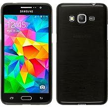 Funda de silicona para Samsung Galaxy Grand Prime - brushed plata - Cover PhoneNatic Cubierta + protector de pantalla
