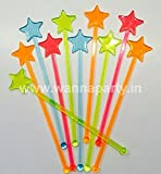 Multi Color Neon Star Stirrers - 10PC
