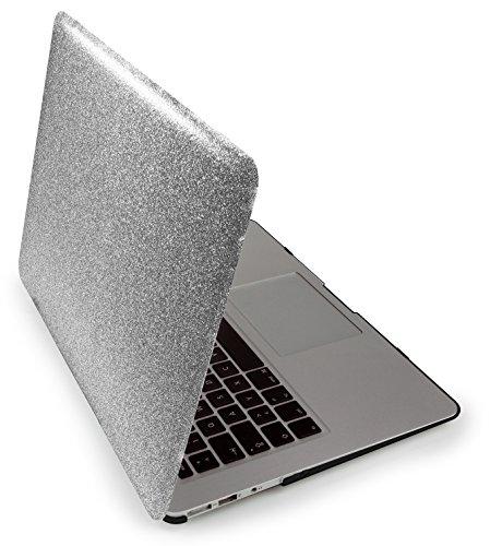 """MyGadget Hülle Hard Case [Glitzer] - für Apple MacBook Air 13"""" (ab Mitte 2011) A1466 / A1369 - Schutzhülle Hartschalen Tasche Plastik Cover in Silber"""