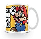 Super Mario Tasse What Doesn't Kill You Makes You Smaller - weiß, bedruckt, aus Keramik, Fassungsvermögen ca. 320 ml..