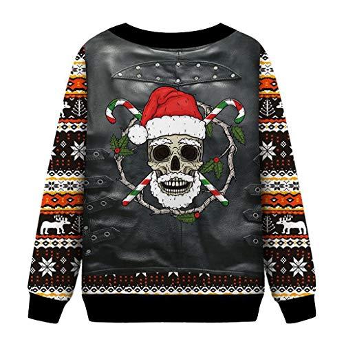 LianMengMVP Weihnachtspullover Weihnachten Kapuzenpullover Damen Langarm Weihnachtspulli Sweatshirt Christmas Hoodie Kapuzen Oberteil (Gelb, XXL)