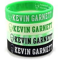 Lorh's store Basketball Kevin Garnett Porträt Armband KG Silikon Inspirierende Wort Sport Schweißbänder 4 Pcs