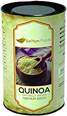 SaiYum Foods Premium White Quinoa Seeds (500) Gms. (Naturally Grown Superfood. Saponin Free. 100% Natural. Complete High Protein, Agrotechnology by CFTRI)
