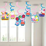 #4: Party Propz Peppa Pig Hanging Swirls (Multicolour, PEPSW04) - Set of 6