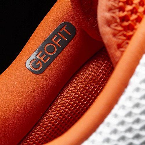 Chaussures ADIDAS Homme Barricade Clay Blanc / Orange PE 2017 Orange