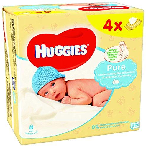 huggies-pure-toallitas-para-bebe-paquetes-de-4-x-56-toallitas-total-224-toallitas