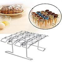 16 Hole Ice Cream Cones Holder Cooling Rack, DIY Cupcake Cones Metal Baking Rack, Desktop Cone Cake Display Stand Holder