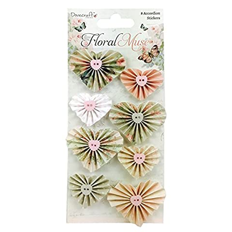 Dovecraft Floral Muse Collection - Accordion Stickers