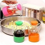 Küche Sojasauce Pot Cruet Flasche auslaufsichere Kunststoff Cruet Ausgießer Flasche flüssige Würze Ölspender