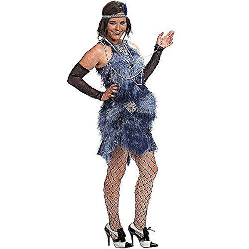 Schwangere Frau Kostüme (Charleston 20ziger Jahre Kostüm für Schwangere Umstandskleid mit Fransen für Karneval und Mottoparty -)